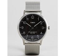 TW2R71500 Waterbury - Klassische Uhr mit Mesh-Armband in Silber