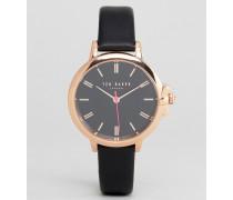 TE50267007 Ruth - Armbanduhr aus schwarzem Leder 36 mm