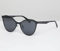 198/S - Katzenaugen-Sonnenbrille in Schwarz