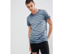 T-Shirt mit graduell abgestuftem Streifenmuster