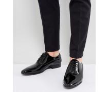 Stolfi - Oxford-Schuhe in schwarzer Lackoptik