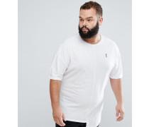 Plus - T-Shirt mit asymmetrischem Saum