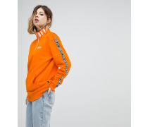 Pullover in Orange mit halblangem Reißverschluss