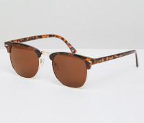 Retro-Sonnenbrille mit braunem Schildplattdesign