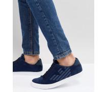 Marineblaue Sneaker