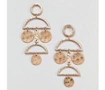 Auffällige Scheiben-Ohrringe