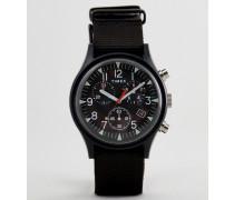 TW2R67700 - Expedition - Chronograph mit Leinenarmband in Schwarz