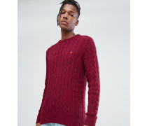 Ludwiger Strickpullover mit Zopfmuster
