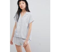 Tencel-Nachthemd mit Knopfleiste
