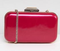 Box-Clutch in Rosa-Metallic mit Kettenriemen