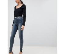 ASOS DESIGN Tall - Ridley - Enge Jeans mit hoher Taille in Altblauer Linka-Waschung
