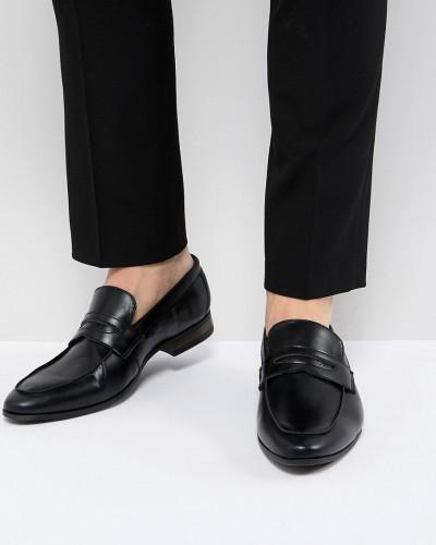 New Look Herren Loafer aus schwarzem Kunstleder Billiger Blick zEUHv