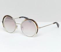 Runde Sonnenbrille mit goldenem Schildplattdesign