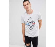 T-Shirt mit Cote D'Azur-Print