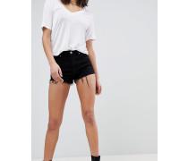 Denim - Shorts mit offenem Saum und kontrastierendem Cord-Einsatz
