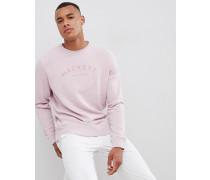 Mr. Classic - Sweatshirt in Rosa mit Rundhalsausschnitt und Logo