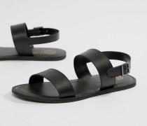 Kg By Kurt Geiger - Sandalen aus schwarzem Leder mit Doppelriemen