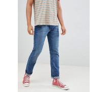 Gerade geschnittene Jeans aus Biobaumwolle in Blau