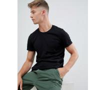 Basic-T-Shirt mit Tasche
