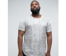 PLUS - Strukturiertes T-Shirt mit Logo