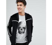 Velours-Pullover mit Reißverschluss