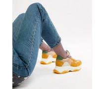 Zela - Senfgelbe Sneaker aus Wildledermix