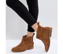 London - Odina - Hellbraune Ankle-Boots aus Wildleder