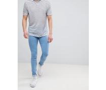 Leroy Pure - Superenge Jeans in Hellblau