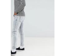 Clark - Schmale Jeans in Dunkelweiß