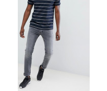 Jondrill - Enge Stretch-Jeans in verwaschenem Grau