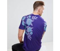 T-Shirt mit Eisrosen-Print
