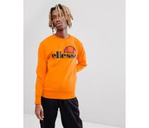 Sweatshirt mit großem Logo auf der Brust in Orange