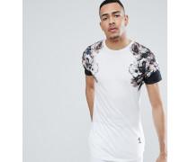 TALL - Lang geschnittenes T-Shirt mit ausgebleichtem Print an den Ärmeln