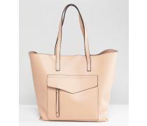 Minimalistische Shopper-Tasche mit Außentasche