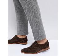 Tompkins - Dunkelbraune Derby-Schuhe aus Wildleder