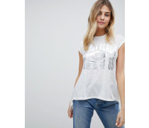 Sunset Beach - T-Shirt mit Foliendruck