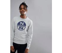 Lowell - Sweatshirt mit Logo in Grau