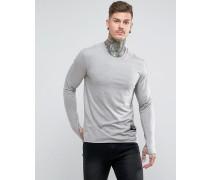 Langärmliges Muskel-T-Shirt mit Daumenloch-Bündchen
