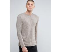 Zweifarbiger Pullover mit Rundhalsausschnitt