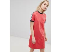 T-Shirt-Kleid mit Logo-Band
