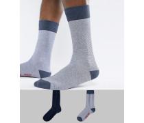 Levi's - 2 Paar Socken in Marineblau gestreift