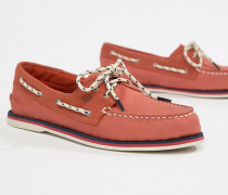 Topsider - Maritime Bootsschuhe in Rot