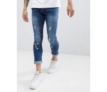 Enge Jeans in ausgeblichener Used-Optik