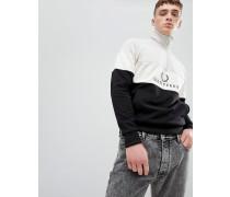 Sports Authentic - Besticktes Sweatshirt mit Viertel-Reißverschluss in Schwarz