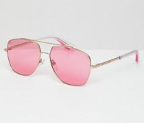 Pilotensonnenbrille mit rosafarbenen Gläsern