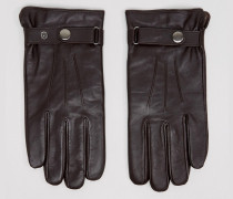 Klassische Lederhandschuhe in Braun