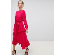 Kleid mit gerüschtem Overlay
