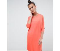 Oversize-T-Shirt-Kleid mit Ziernaht