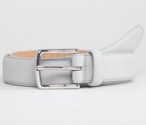 Schmaler Ledergürtel in Grau