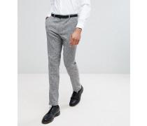 Tall - Enge Anzughose aus Tweed mit Fischgrätmuster